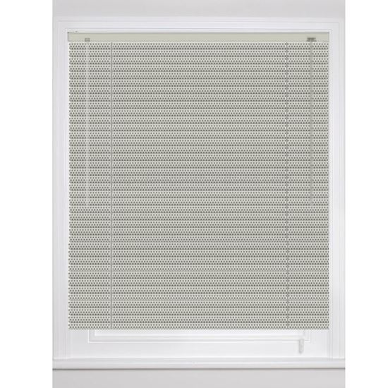 1 Inch Aluminium Estate Mini Blinds With Perforated Colors